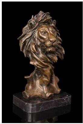 Lion of Judah Bronze Sculpture Decor
