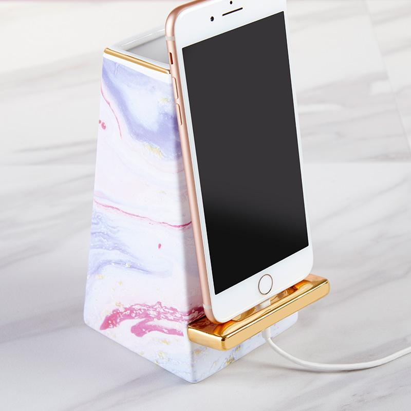 Marble Ceramic Phone Amplifier Marble Ceramic Phone Amplifier