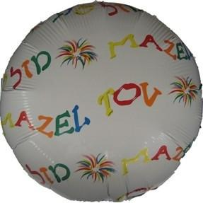 Mazel Tov All Over Balloons