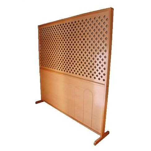 Mehitzah Wood Panel Partition - Diamonds