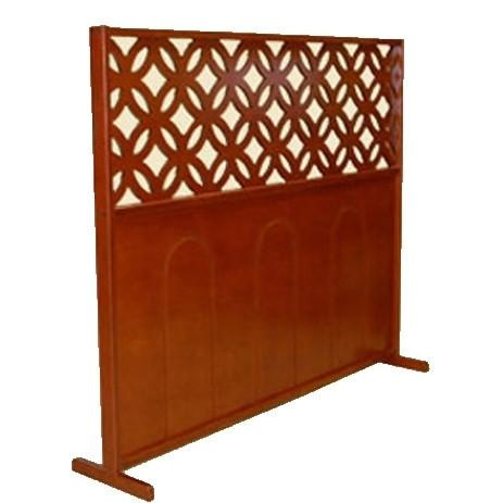 Mehitzah Wood Panel Partition - Elipses