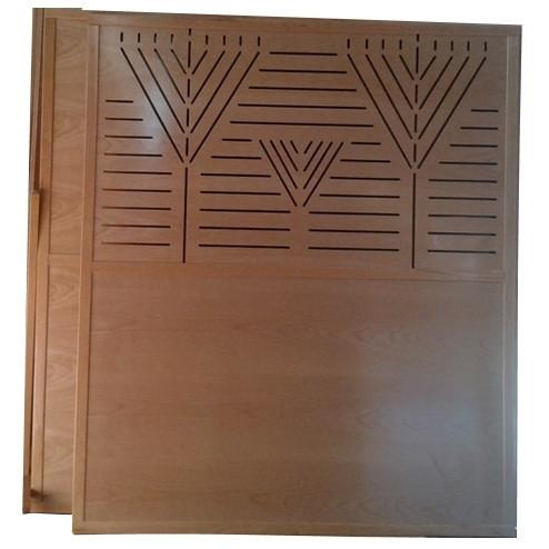 Mehitzah Wood Panel Partition - Menorah
