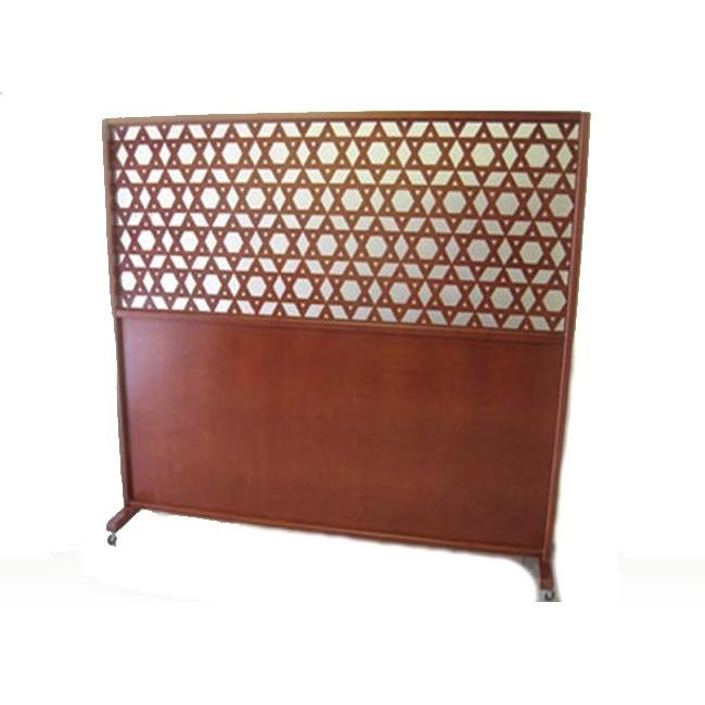 Mehitzah Wood Panel Partition - Star Of David