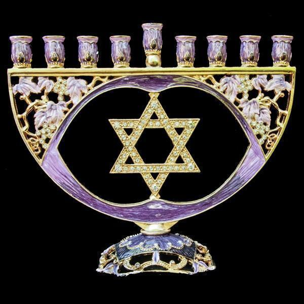 Menorah, Jeweled, 8""