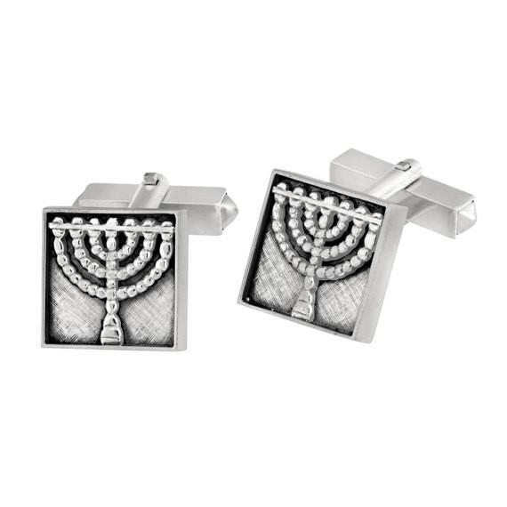 Men'S Cufflinks - Holy Temple Menorah