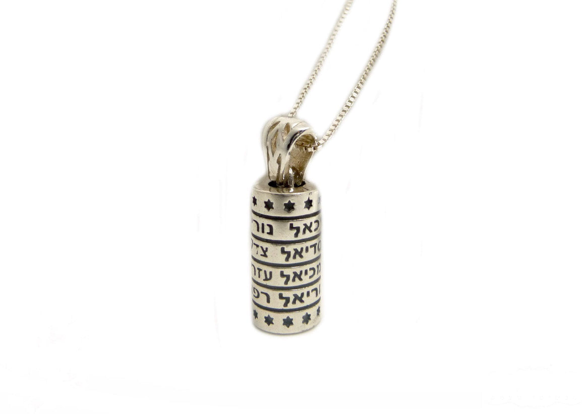 Mezuzah Pendant - Names Of Angels