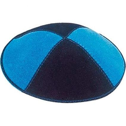 Multi Color Suede Kippahs. Color Suede Panel Kippahs Specify Color(s)