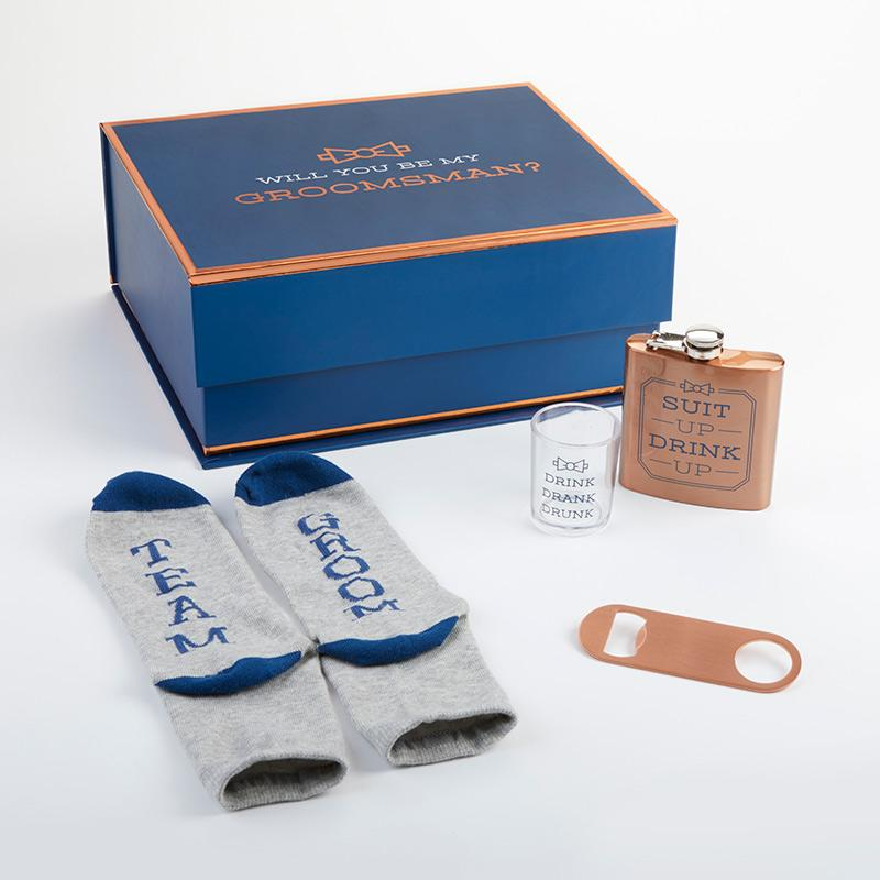 Navy & Copper Will You Be My Groomsman Kit Gift Box Navy & Copper Will You Be My Groomsman Kit Gift Box