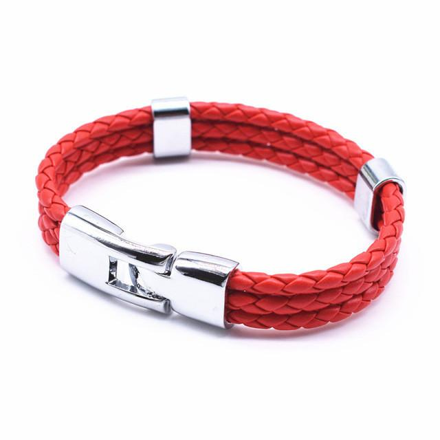New 3 Layer Handmade Braided Wrist Band bracelet