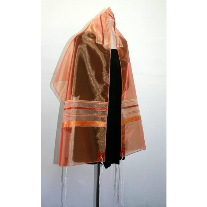 Orange Organza Tallit
