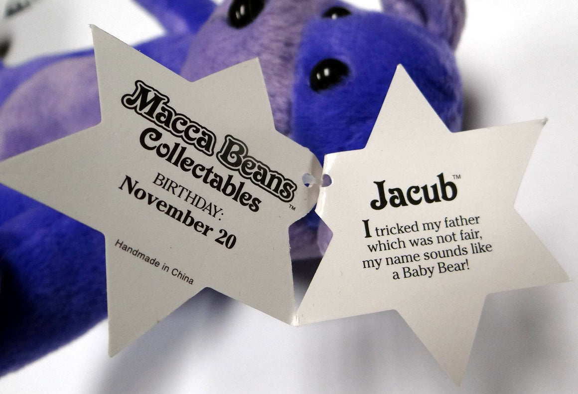 "Oy Macca Beans Collectibles ""Jacubâ The Bear "" Beanie Plush"