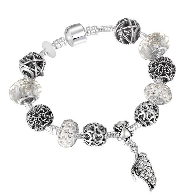 Pandora Charm Bracelet with Tree of life Pendants Gold-color 18cm