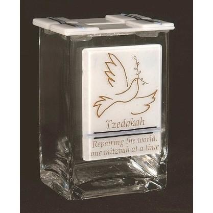 Peace Dove Tzedakah Charity Box
