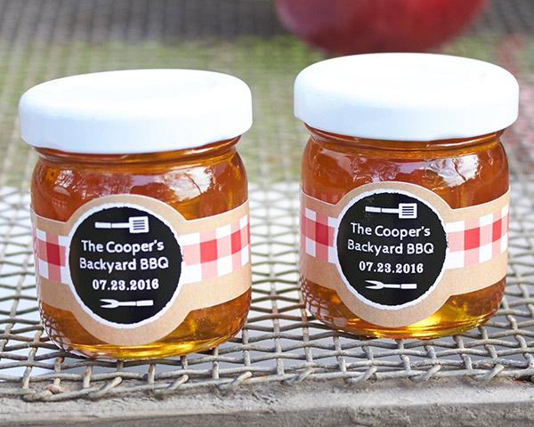 Personalized Honey Jar - BBQ (Set of 12) Personalized Honey Jar - Baby Brunch (Set of 12)