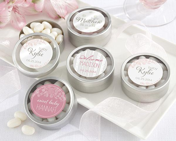 Personalized Silver Round Candy Tin - Bachelor & Bachelorette (Set of 12) Personalized Silver Round Candy Tin - Bachelor & Bachelorette (Set of 12)