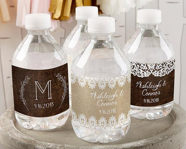 Personalized Water Bottle Labels - Kate's Nautical Wedding Collection Personalized Water Bottle Labels - Kate's Nautical Wedding Collection