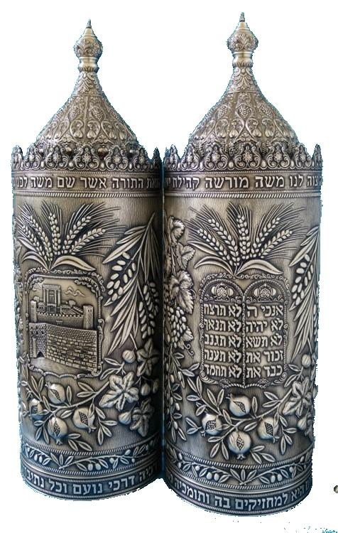 Premium All Sterling Silver Sephardic Torah Cases A