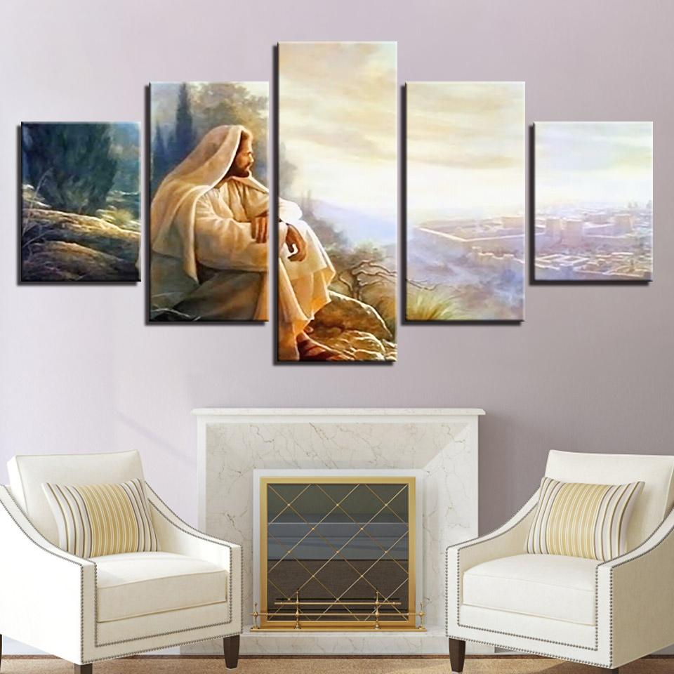 Prophets of Israel 5 Panel Canvas Wall Art art