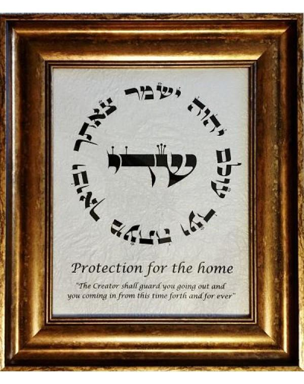 Protection For The Home Hand Artwork On Parchment & Framed