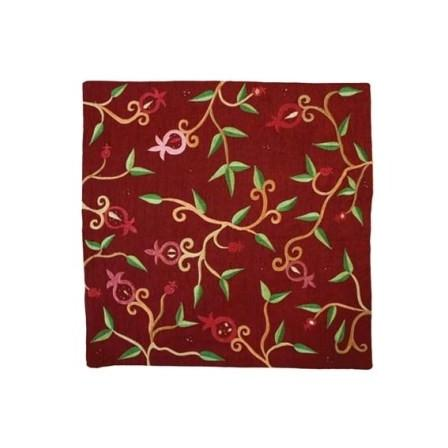 Red Embroidered Pillow Cover