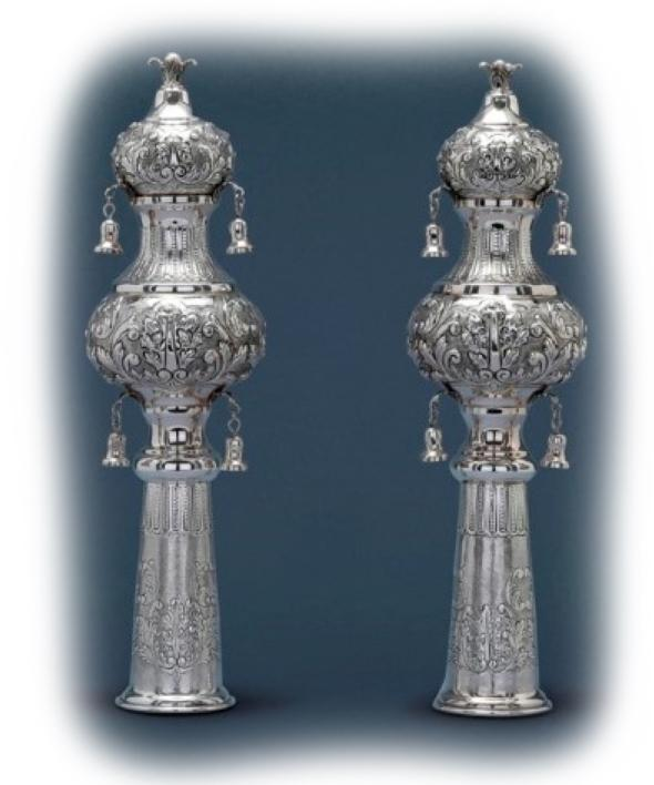 Rimmonim Torah Ornament Crowns Baroque Style