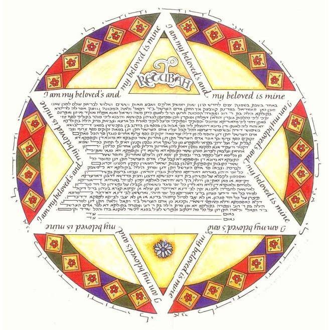 Roman Star Ketubah Alternative Reform Yes