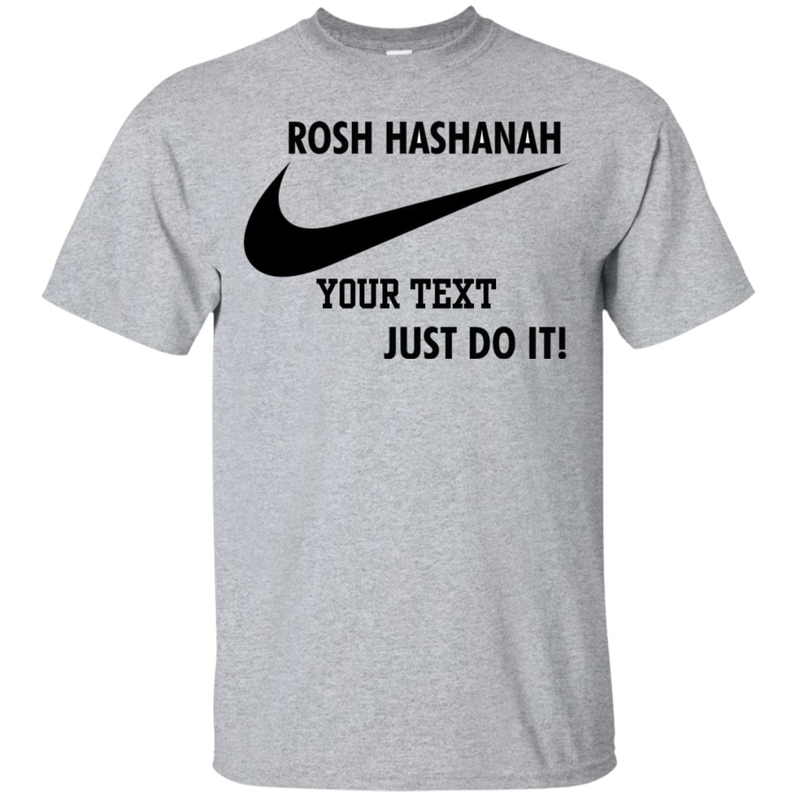 Rosh Hashanah Personalized Nike Ultra Cotton T-Shirts T-Shirts Ash S