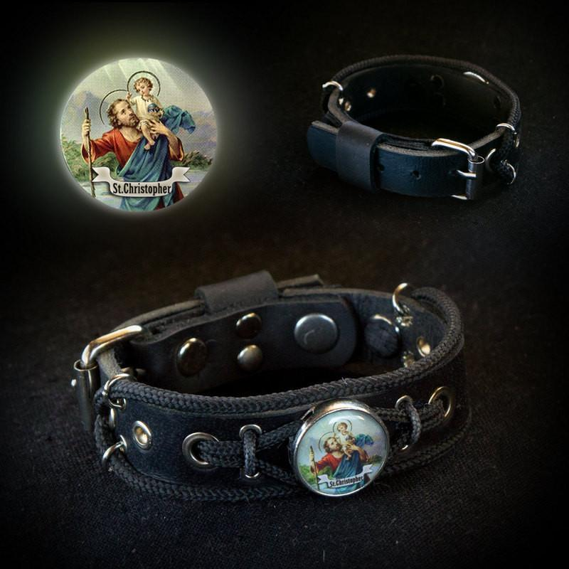 Saint Christopher Bracelet, St. Christopher Jewelry Wristband For Her