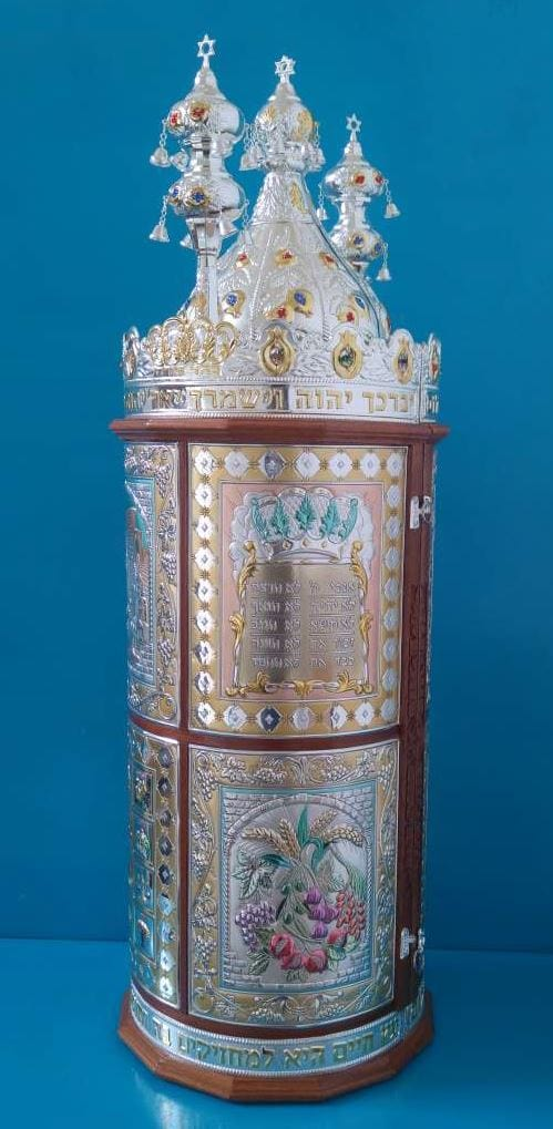 Sefardic Sefer Torah Case- Premium Silver 7 Species