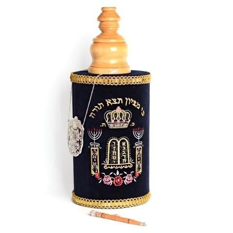 Sefardic Torah Scroll & Case