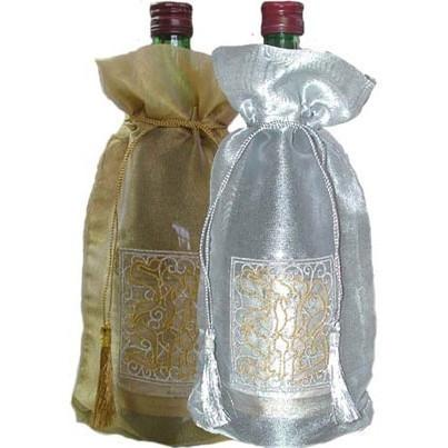 Set Of 12 Wine Covers Gold