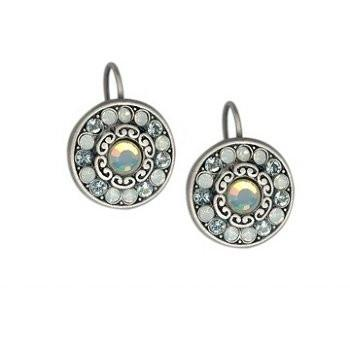 Set Of Round Floral Earrings