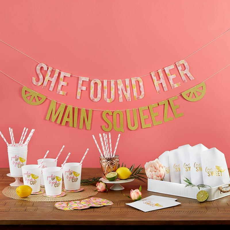 She Found Her Main Squeeze 49 Piece Party Kit She Found Her Main Squeeze 49 Piece Party Kit