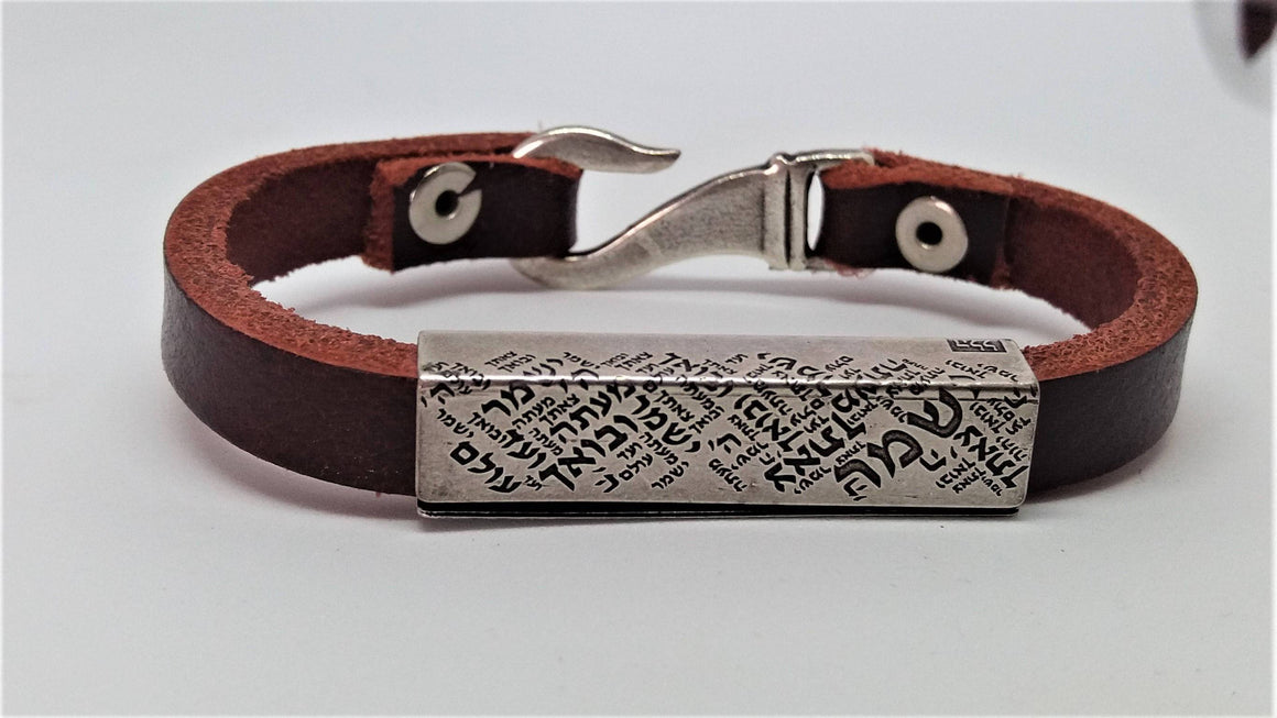 Silver Bracelet Men, Men Leather Bracelet,