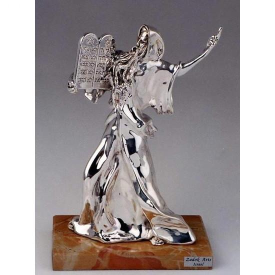 Silver Figurine Of Moses With The Ten Commandments