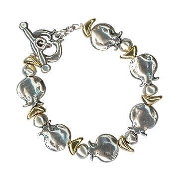 Silver & Gold Chain Hook Bracelet.