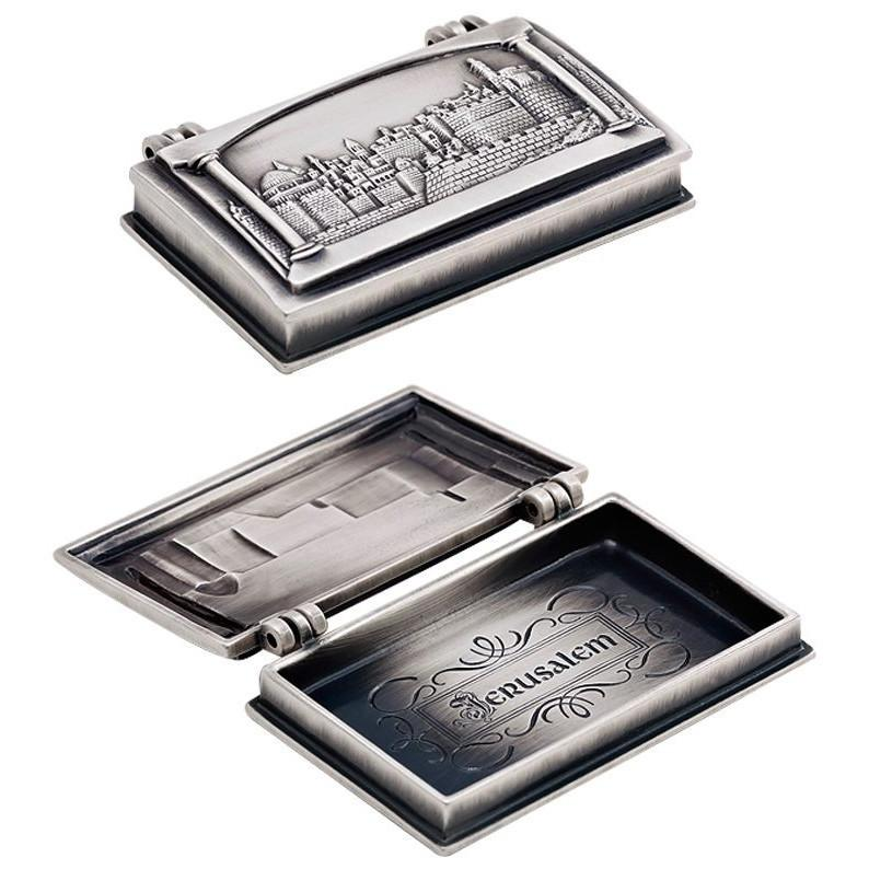Silver Jerusalem Business Cards Box