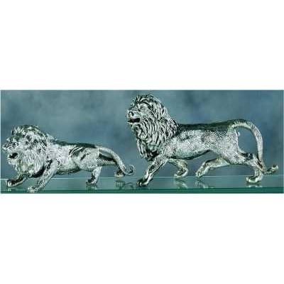 Silver Lion of Judah Desktop Figurines 190 mm
