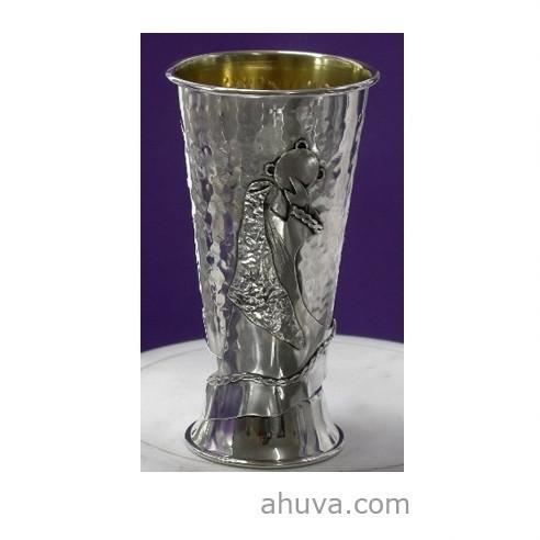 Silver Miriam's Kiddush Cup with Tambourine