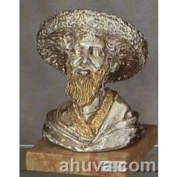Silver Rabbi Figurine