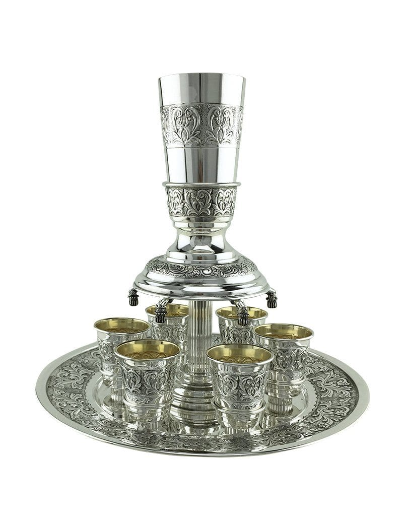 Silver Wine Fountain - 6 or 12 Cups Tuscany 12 cups