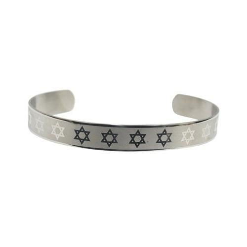 "Stainless Steel Bracelet ""Magen David"" 4628"