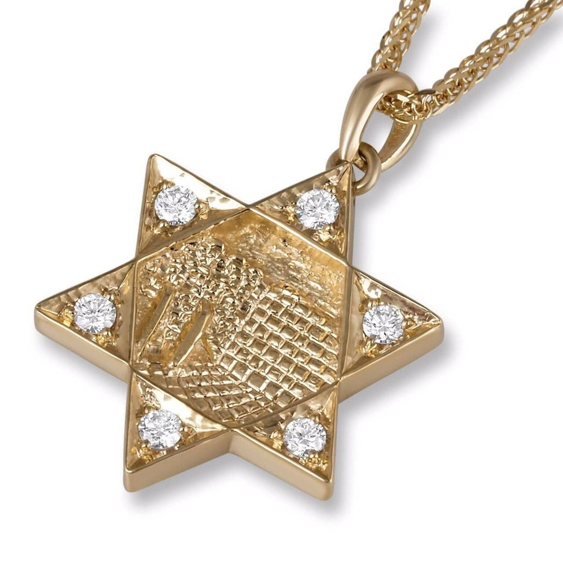 Star of David Jerusalem Diamond Pendant