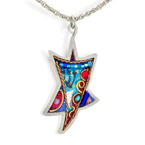 Star Of David With Shaddai Necklace