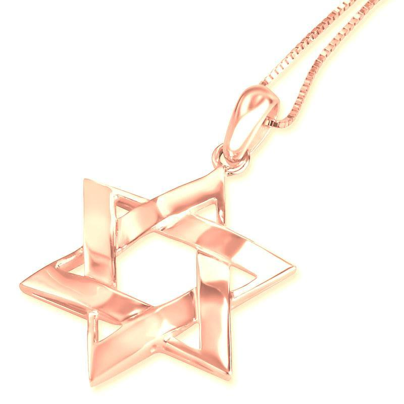 Sterling Silver Star of David Necklace Sterling Silver 16""