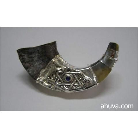 Sterling Silver Star Of David Shofar