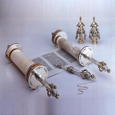 Sterling Silver Torah Set