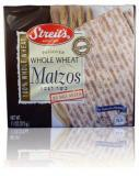 Streit's Passover Whole Wheat Matzos No Salt Added 11 oz