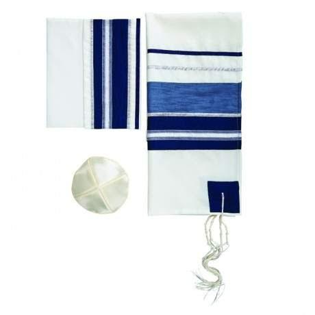 Striped Midnight Tallit Set