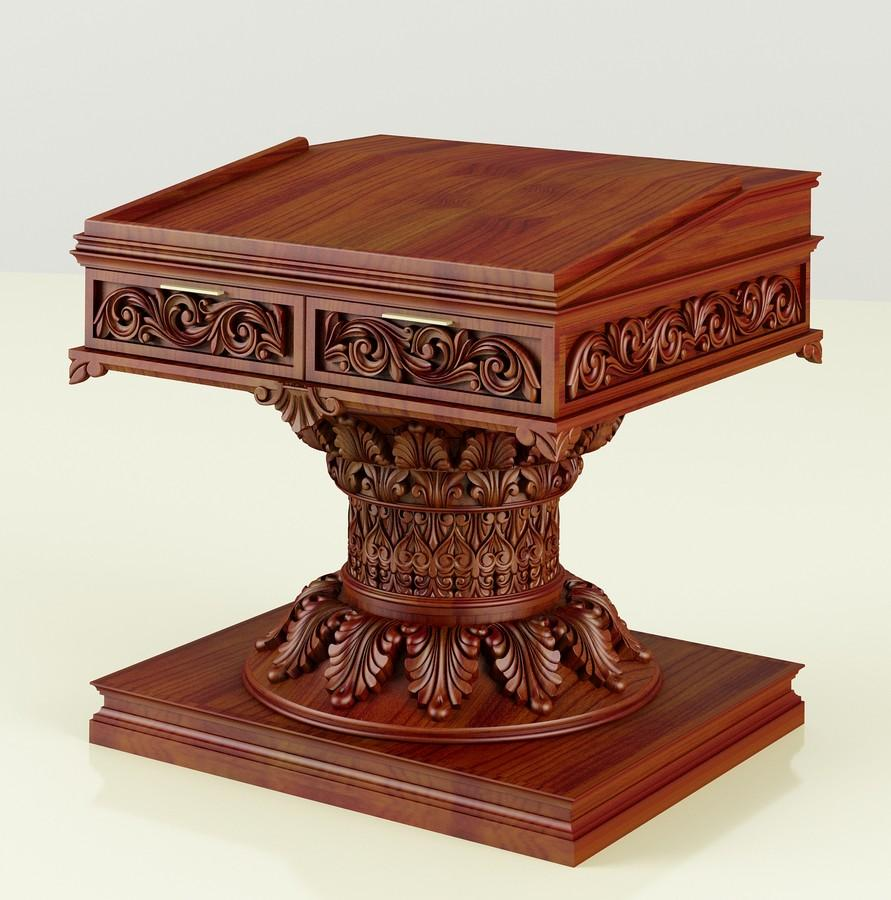 Synagogue Bimah Torah Reading Table